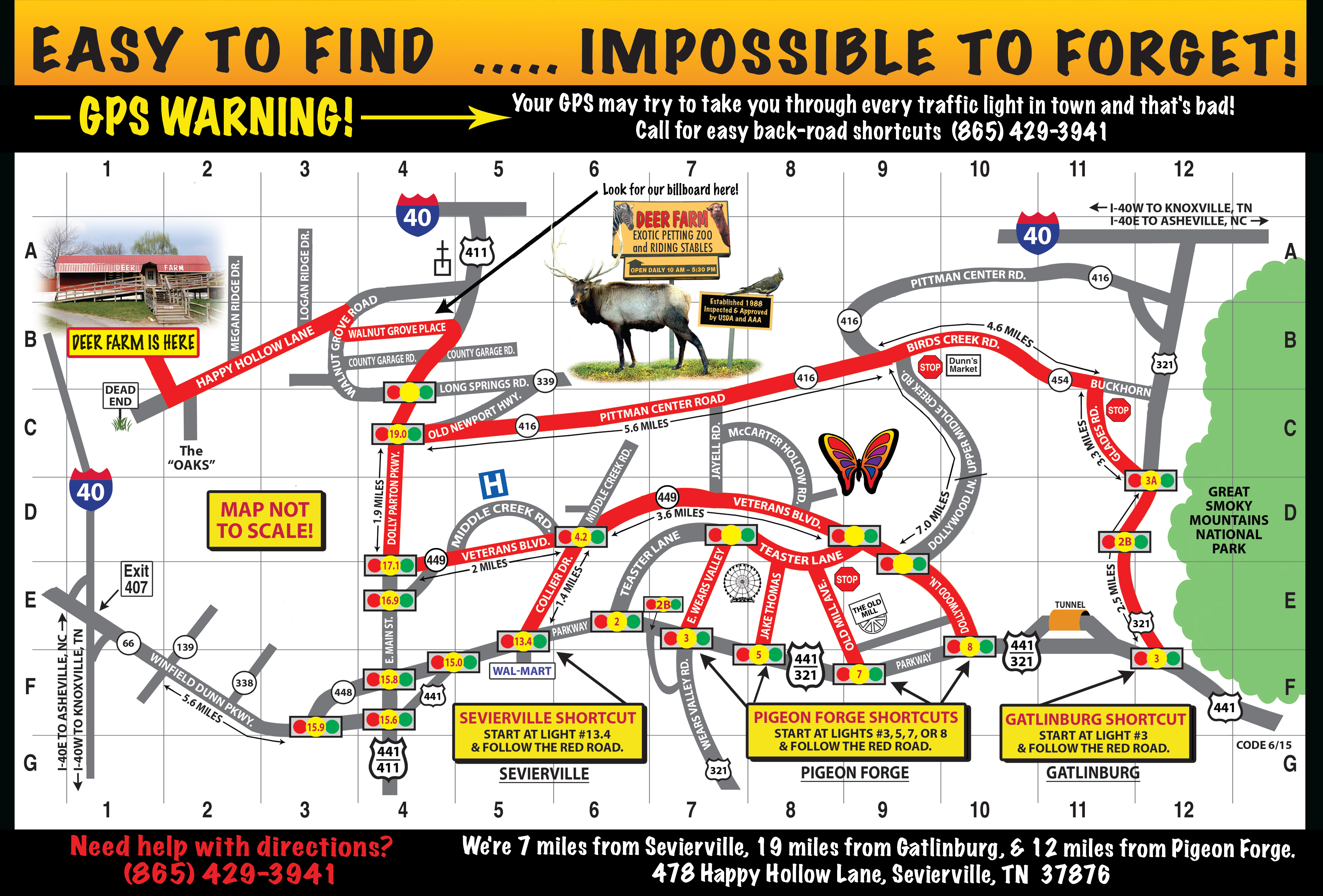 Smoky Mountain Deer Farm Map